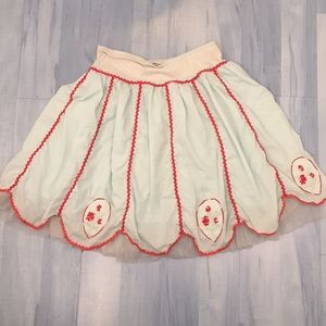 Vintage Free People Skirt with Ric Rac Tulle Sz 0